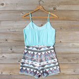 Crystal Wishes Romper in Turquoise: Alternate View #4