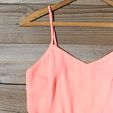 Crystal Wishes Romper in Peach: Alternate View #2