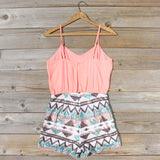 Crystal Wishes Romper in Peach: Alternate View #4