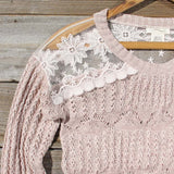 Cumulus Lace Sweater: Alternate View #2
