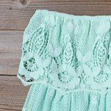 Coyote Lace Dress in Mint: Alternate View #2