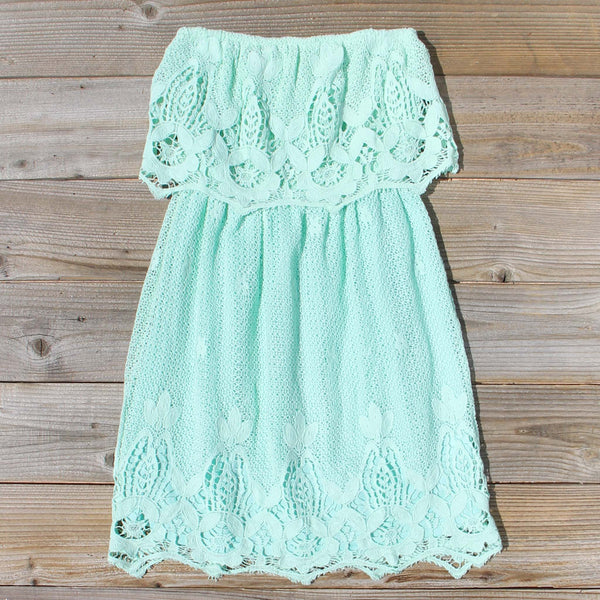 Coyote Lace Dress in Mint: Featured Product Image