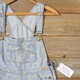 Daisy Distressed Overalls: Alternate View #2