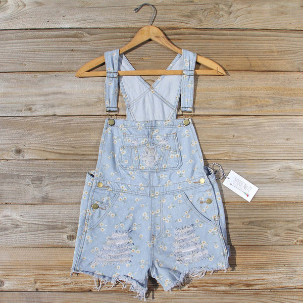 Daisy Distressed Overalls: Featured Product Image