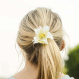 Daylily Hair Band in White: Alternate View #2