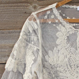 December Lace Blouse in Cream: Alternate View #2