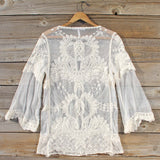 December Lace Blouse in Cream: Alternate View #4