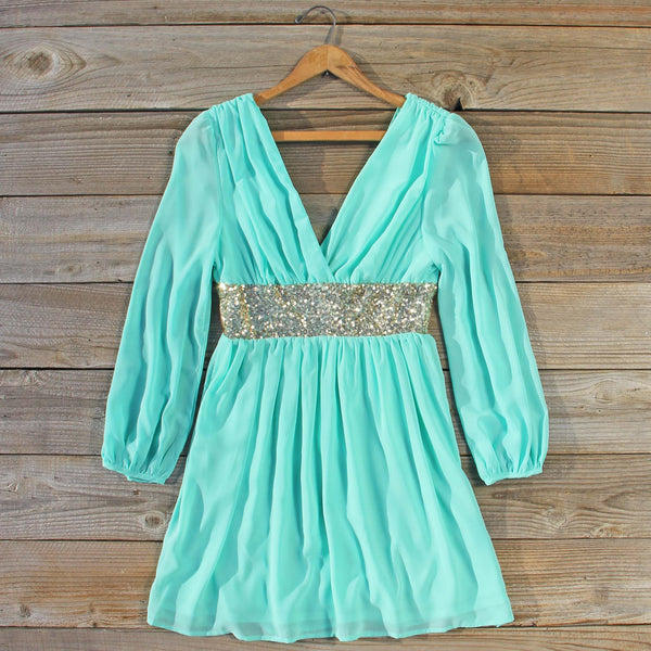 December Snow Dress in Mint: Featured Product Image