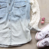 Denim & Lace Boyfriend Shirt: Alternate View #3