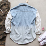 Denim & Lace Boyfriend Shirt: Alternate View #4