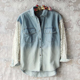 Denim & Lace Boyfriend Shirt: Alternate View #1