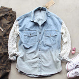 Denim & Lace Boyfriend Shirt: Alternate View #2