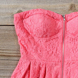 Desert Coral Lace Romper: Alternate View #2