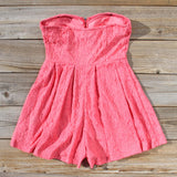 Desert Coral Lace Romper: Alternate View #4