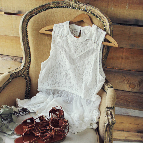 Desert Dawn Lace Tank: Featured Product Image