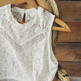 Desert Dawn Lace Tank: Alternate View #2