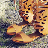 Desert Feather Sandals: Alternate View #2