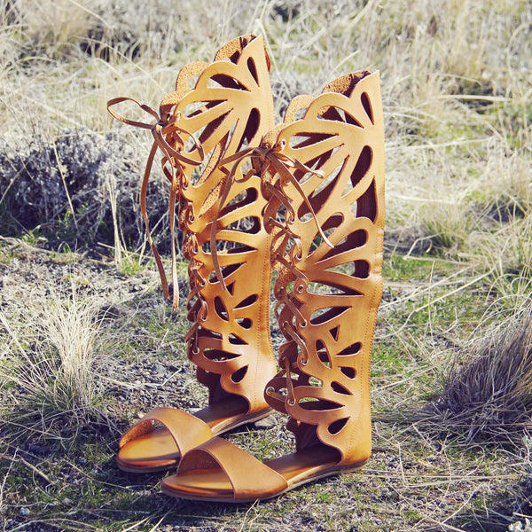 Desert Feather Sandals: Featured Product Image