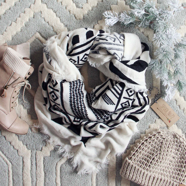 Desert Snow Cozy Scarf: Featured Product Image
