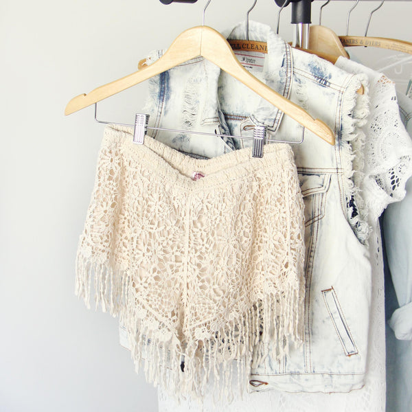 Soft Light Lace Shorts: Featured Product Image