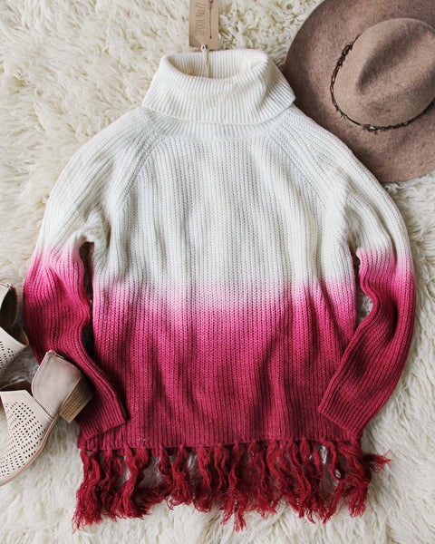 Dip Dye Tassel Sweater: Featured Product Image