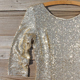Dipped Gold Party Dress: Alternate View #2