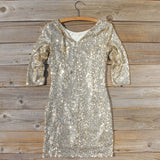 Dipped Gold Party Dress: Alternate View #4