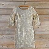 Dipped Gold Party Dress: Alternate View #1