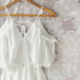 The Drifter Romper in White (wholesale): Alternate View #2