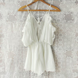 The Drifter Romper in White (wholesale): Alternate View #4