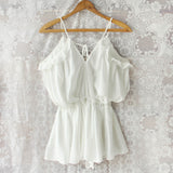The Drifter Romper in White (wholesale): Alternate View #1