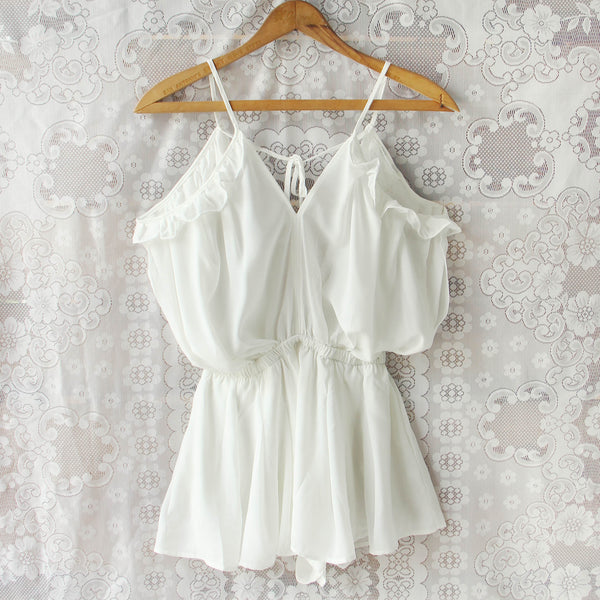 The Drifter Romper in White: Featured Product Image
