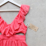 Dust & Bloom Dress in Coral: Alternate View #2