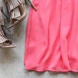 Dust & Bloom Dress in Coral: Alternate View #3