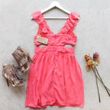 Dust & Bloom Dress in Coral: Alternate View #4
