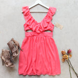 Dust & Bloom Dress in Coral: Alternate View #1