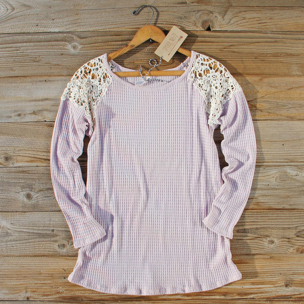 Dusty Lilac Lace Thermal: Featured Product Image