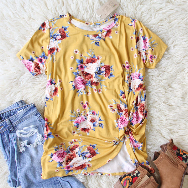 Dusty Miller Tee in Mustard: Featured Product Image