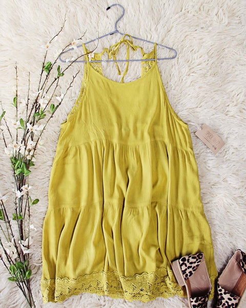 Dusty Mustard + Lace Dress: Featured Product Image