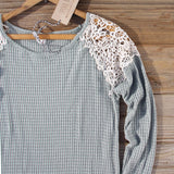 Dusty Sage Lace Thermal: Alternate View #2