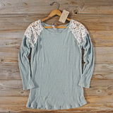Dusty Sage Lace Thermal: Alternate View #1