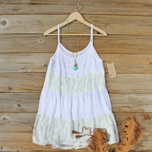 Coyote Sands Dress in White: Featured Product Image