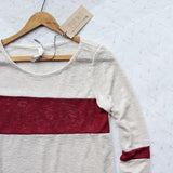 Easy Wear Tee in Burgundy: Alternate View #2
