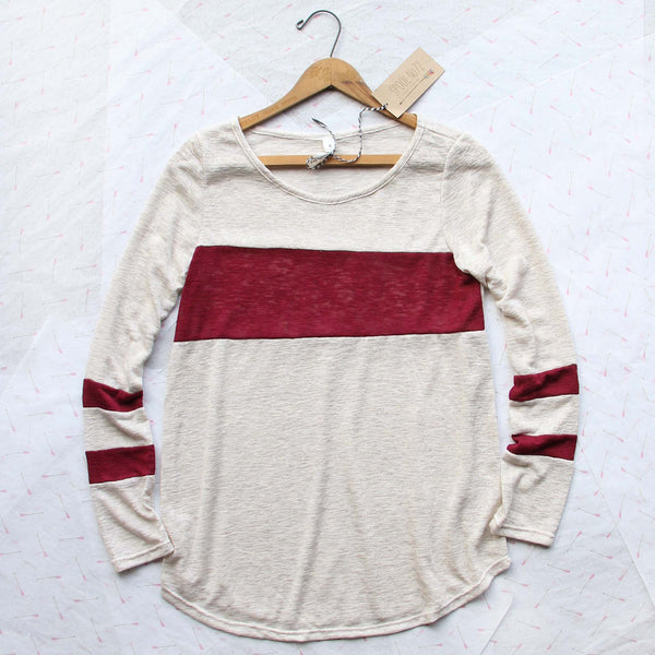 Easy Wear Tee in Burgundy: Featured Product Image