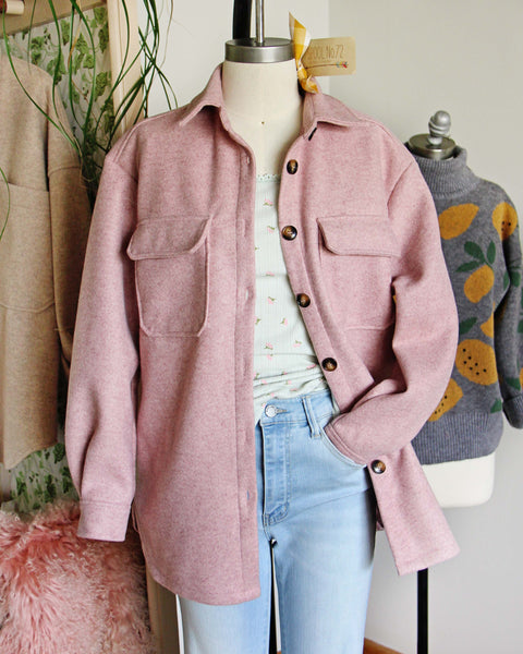 Pink Thyme Shirt Jacket: Featured Product Image