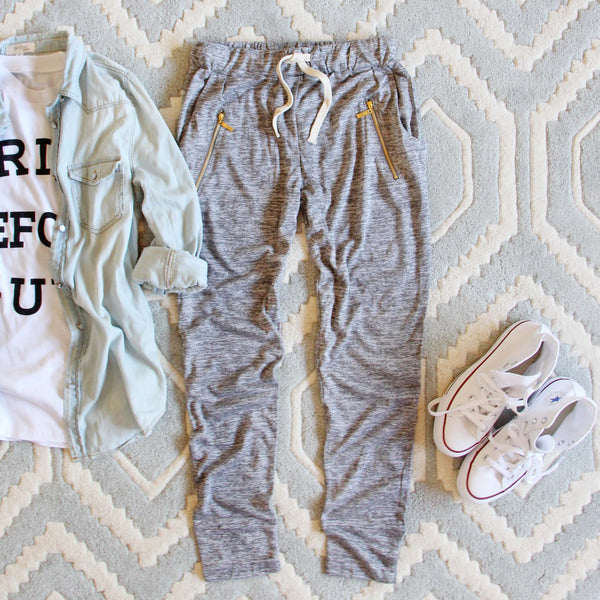 Spool Active Ellie Joggers in Gray: Featured Product Image