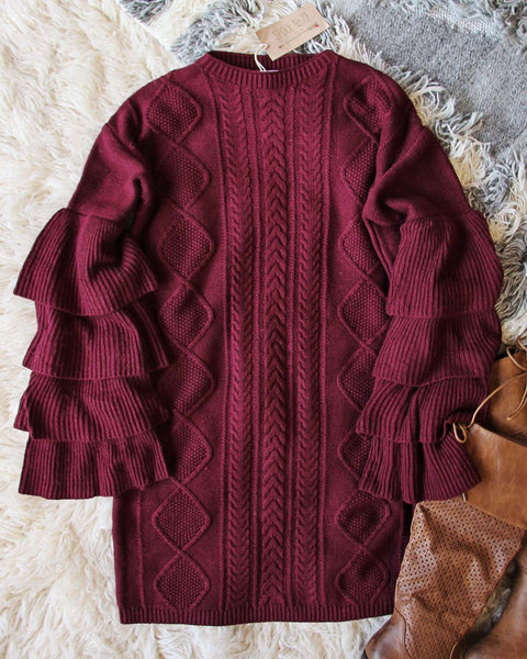 Enchanted Knit Sweater Dress: Featured Product Image