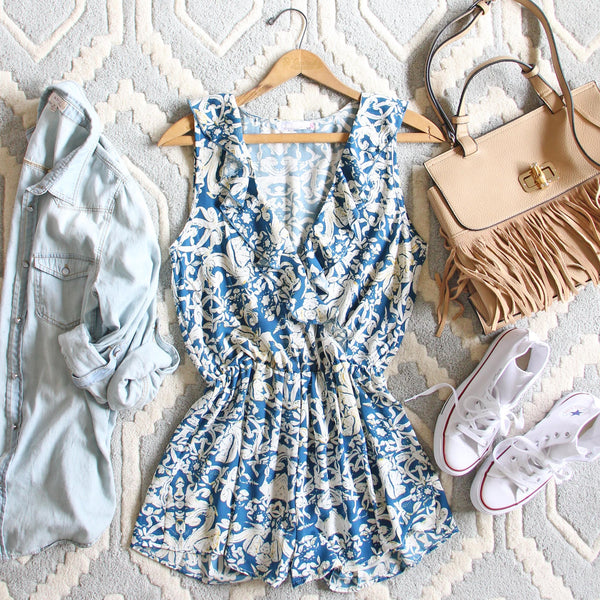 Blue Hush Romper: Featured Product Image