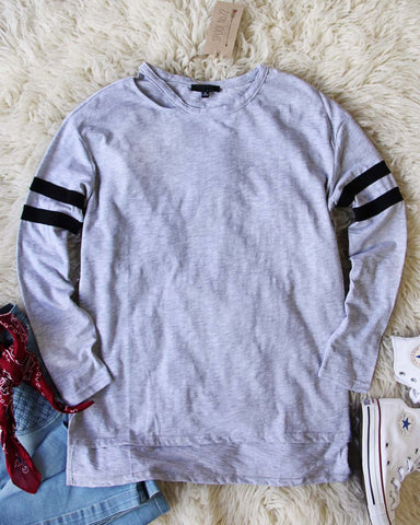 Everyday Cozy Tee in Gray
