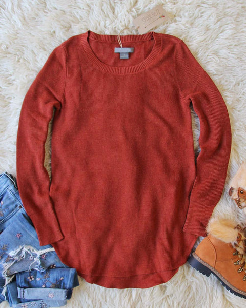 Everyday Layering Sweater in Rust: Featured Product Image